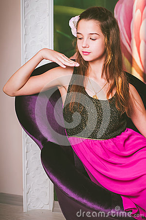 Portrait Of A Beautiful Girl Of European Appearance Stock ... - photo#12