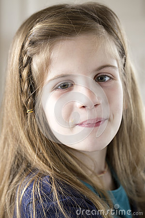 Portrait beautiful liitle girl Stock Photo
