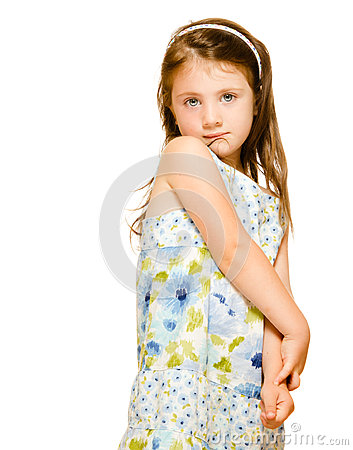 Portrait of a beautiful little girl