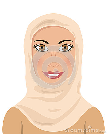 Muslim Woman Wearing a Hijab