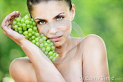 Portrait beautiful naked woman