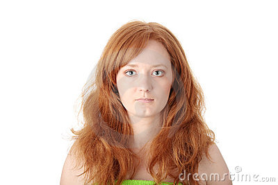 Portrait of a beautiful redhead woman
