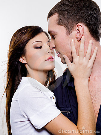 Portrait of beautiful sexual couple
