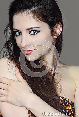 Portrait of beautiful sexy woman