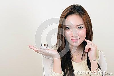 Portrait of beautiful healthy asian woman