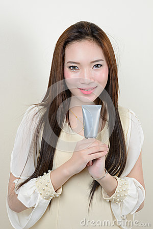 Portrait of beautiful  smiling healthy asian woman