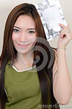 Portrait of beautiful healthy asian woman