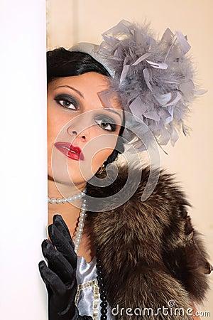 portrait of a beautiful stylish woman