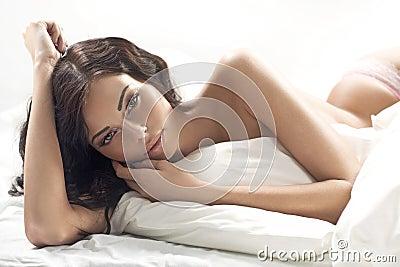 Portrait of the beautiful tawny woman