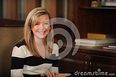 Portrait of Beautiful Teen Girl