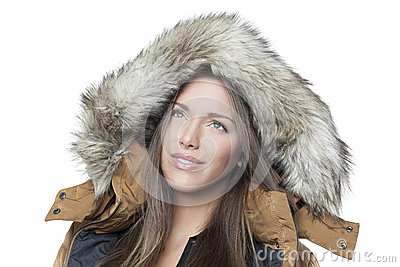 Portrait of a beautiful winter girl