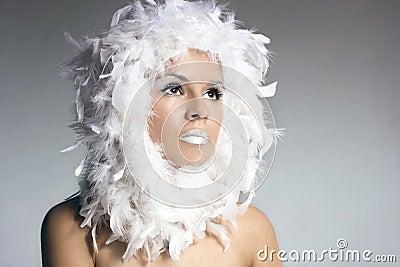 Portrait of a beautiful winter queen