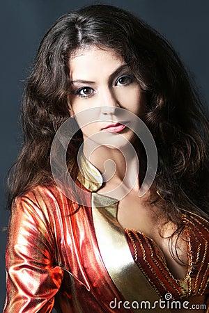 Portrait of beautiful woman brunette