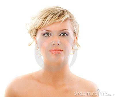 Portrait of beautiful woman close