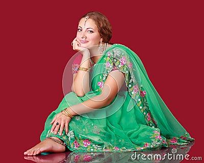 Portrait of a beautiful woman in sari