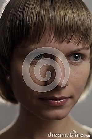 Portrait of Beautiful Young Caucasian Woman