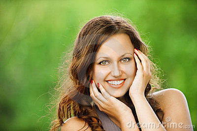 Portrait of beautiful young smiling