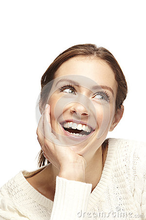 Portrait of a beautiful young woman, smiling Stock Photo