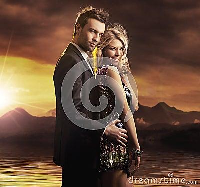 Portrait of a beauty couple