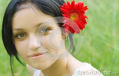 Portrait of beauty girl