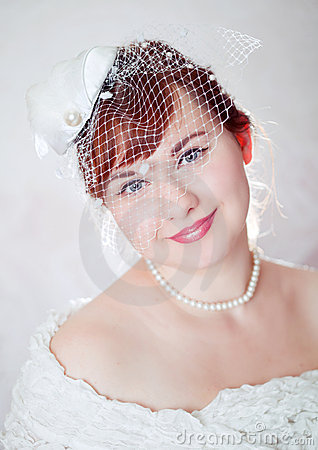 Portrait of a beauty redhead  bride