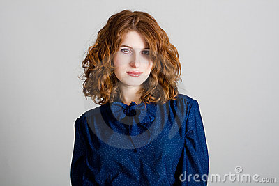Portrait of beauty young woman
