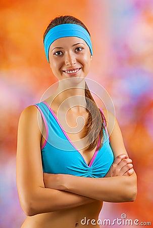Portrait of a beautyful sports girl