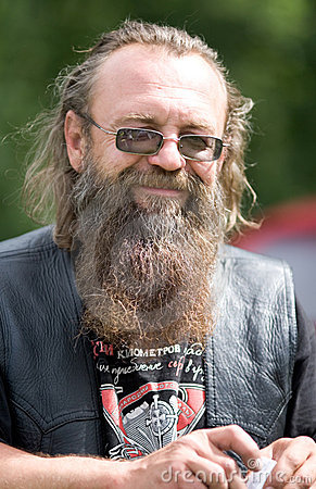 Portrait of biker Editorial Stock Image