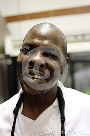 Portrait of Black Chef Editorial Stock Photo