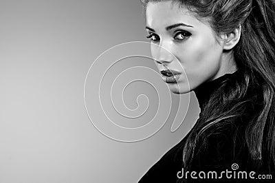 Portrait, black-and-white