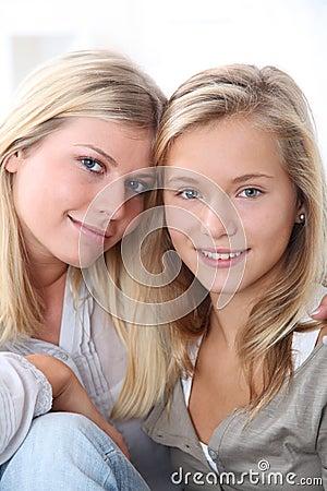 Portrait of blond girls