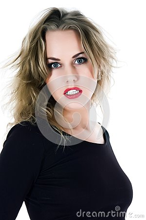 Portrait Of The Blonde With Blue Eye Stock Images - Image: 6684544