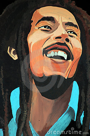 Portrait of Bob Marley Editorial Stock Image