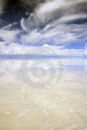 Portrait of Bolivian saltflats