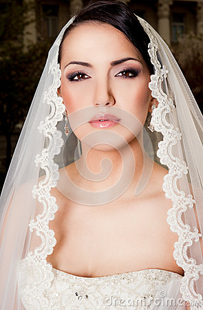 Portrait of bride