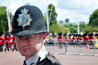 Portrait of British Police Officer Editorial Stock Photo