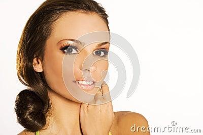 Portrait of a brunette
