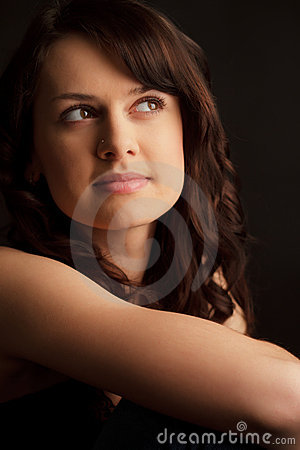 Portrait Brunette Young Woman