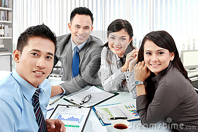 Portrait of business group