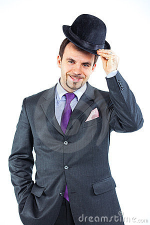 Portrait of a business man with hat