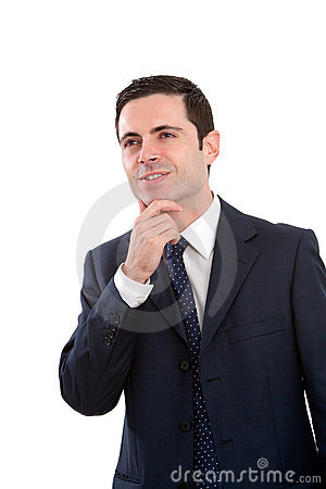 Portrait of business man with wondering expression