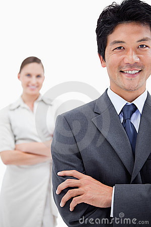 Portrait of business people posing