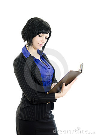 Portrait of a business woman with document.