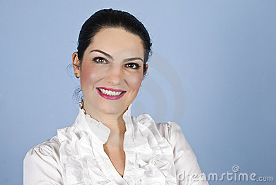 Portrait business woman smiling
