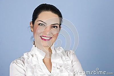 Portrait business woman smiling
