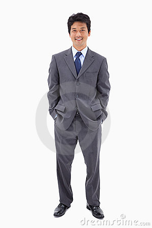 Portrait of a businessman standing up
