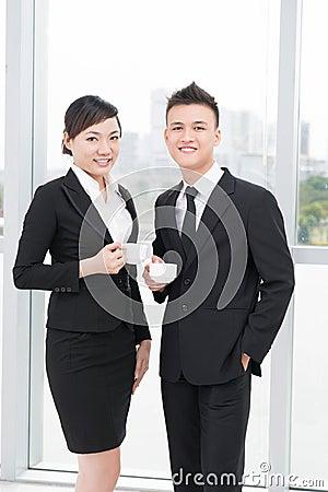 Pretty businesspeople