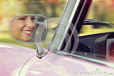 Portrait in car