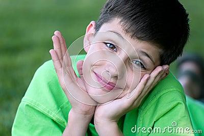 Portrait of a carefree boy