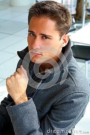 Portrait of a casual male model